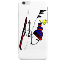 Snoopy on snow iPhone Case/Skin