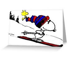 Snoopy on snow Greeting Card