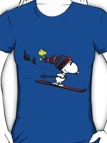 Snoopy on snow T-Shirt
