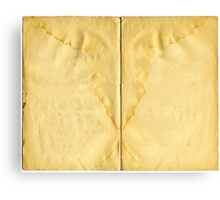 Open ancient book with blank pages Canvas Print
