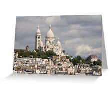 The Sacre Coeur church in Montmartre, Paris, France Greeting Card
