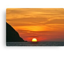 Another Grecian Sunset Canvas Print