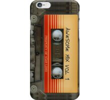 Awesome transparent mix cassette tape volume 1 iPhone Case/Skin