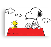 Snoopy and Woodstock Love Canvas Print