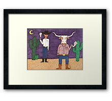 Meanwhile, back on the ranch... II Framed Print