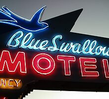 Blue Swallow Motel Neon Tucumcari by Paul Butler