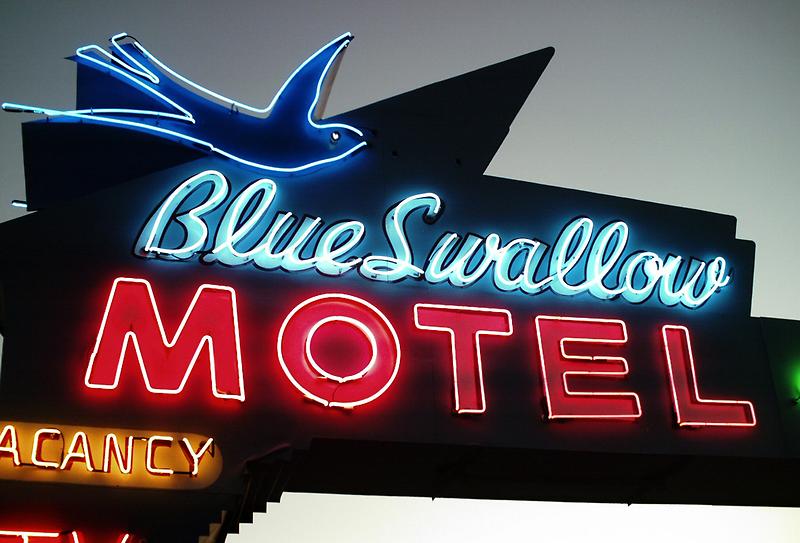 Blue Swallow Motel Neon Tucumcari by Paul Butler