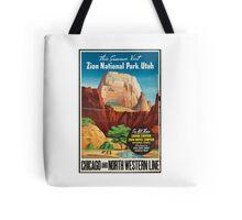 Zion National Park Vintage Art Tote Bag