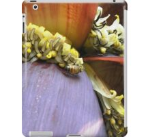 Portfolio: Honeybee foraging on a banana blossom #1 iPad Case/Skin