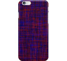 When the blue line cross the red one iPhone Case/Skin
