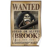 Wanted Brook - One Piece Poster