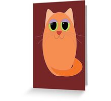 CAT MARMALADE ONE Greeting Card
