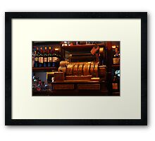 Old Cash Register Framed Print