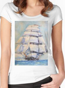 Sailing The Oceans Women's Fitted Scoop T-Shirt