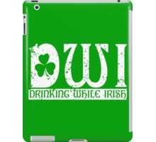 DWI Drinking While Irish grunge look iPad Case/Skin