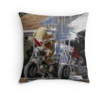 new biker gang Throw Pillow