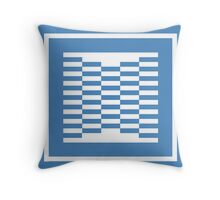 Blue Design Throw Pillow