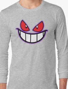 Gengar Monster Purple Pokeball Long Sleeve T-Shirt