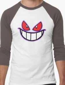 Gengar Monster Purple Pokeball Men's Baseball ¾ T-Shirt