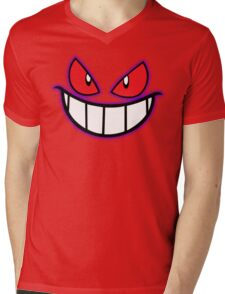 Gengar Monster Purple Pokeball Mens V-Neck T-Shirt