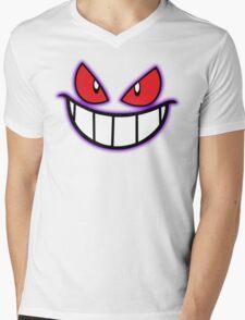 Gengar Monster Purple Pokeball Mens V-Neck T-Shirt