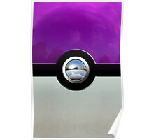 Gengar Monster Purple Pokeball Poster