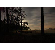 hammock at misty night Photographic Print