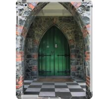 A Green Door and Points iPad Case/Skin