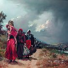 refugees leaving their townTrapezounta by Demetrios Vlachos