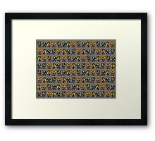 Chibi turtles Framed Print