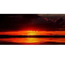 manipogo sunset Photographic Print