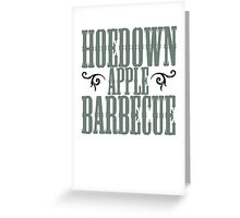 Hoedown Apple Barbecue Greeting Card