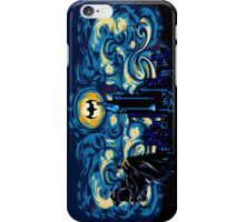 Dark Blue Starry Knight Abstract iPhone Case/Skin