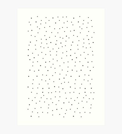 Random Dots on White Art Print