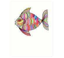 Psychedelic Fish Art Print