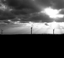 Windfarm Sunset by Peter O'Kane