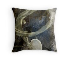 Abandoned Ribbon and Shell Throw Pillow