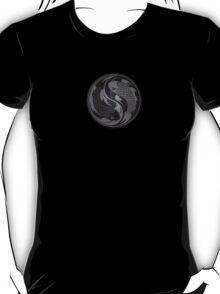 Gray and Black Yin Yang Koi Fish T-Shirt