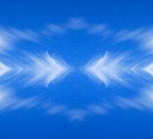 Clouds mirror blue sky  Sticker