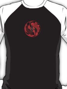 Red and Black Yin Yang Koi Fish T-Shirt