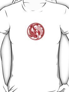 Red and White Yin Yang Koi Fish T-Shirt