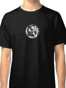 Black and White Yin Yang Koi Fish Classic T-Shirt