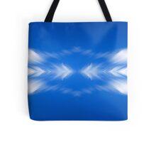 Clouds mirror blue sky  Tote Bag