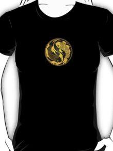 Black and Yellow Yin Yang Koi Fish T-Shirt