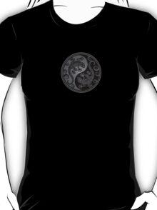 Gray and Black Yin Yang Geckos T-Shirt
