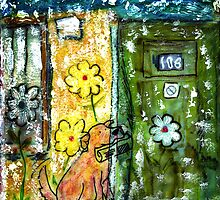 Dog and Flowers by stevebohnstedt
