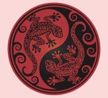 Red and Black Yin Yang Geckos Kids Tee