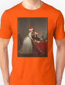 Antoine-Laurent Lavoisier (1743–1794) and His Wife (Marie-Anne-Pierrette Paulze, 1758–1836) Jacques Louis David  Unisex T-Shirt