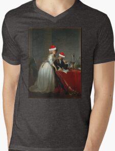 Antoine-Laurent Lavoisier (1743–1794) and His Wife (Marie-Anne-Pierrette Paulze, 1758–1836) Jacques Louis David  Mens V-Neck T-Shirt