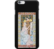 'Mosaicos' by Alexandre de Riquer (Reproduction) iPhone Case/Skin